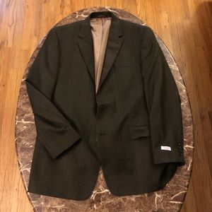 Men's Izod Dress coat Brown Sz XL